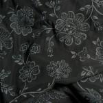 Muster Blumen schwarz